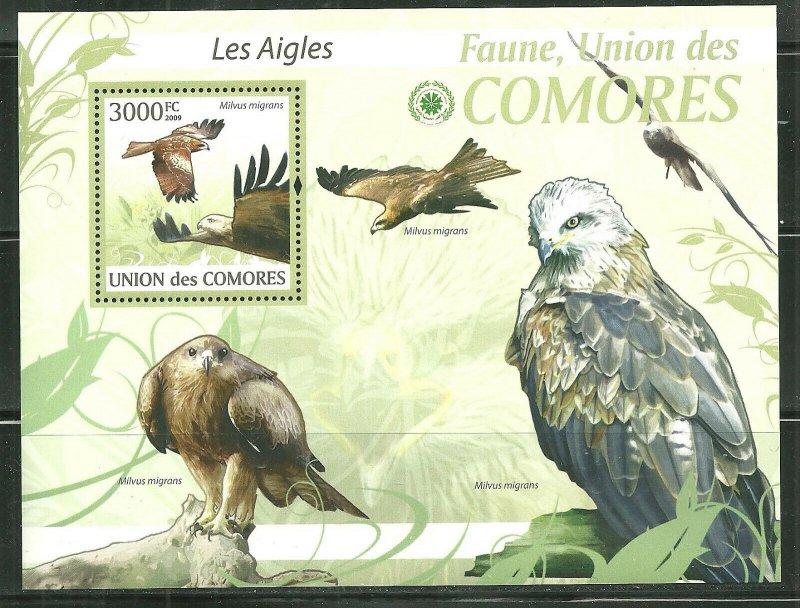 Comoro Island MNH S/S Eagles 2009