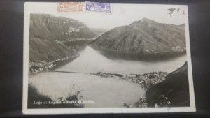 U) 1946, ITALY,  LUGANO LAKE,  POSTAL