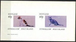 {E147} Eynhallow Scotland Domestic Cats Sh.2 Imperf. MNH Cinderella !!