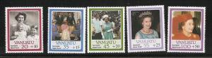 Vanuatu Semi-Postal set mint S.C. B2 - B6