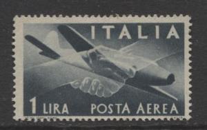 Italy - Scott C106 - Air Post -1945 - MVLH - 1 Lira Stamp
