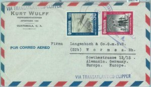 86074 - GUATEMALA - POSTAL HISTORY - COVER to GERMANY via CLIPPER 1950's