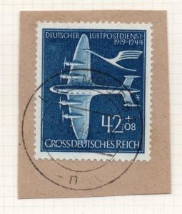 1944-45 GERMANY used in LUXEMBOURG Fine Used 42p. Postmark Piece 241799