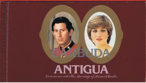 Antigua #627 MNH S/A Royal Wedding Booklet  Free S/H