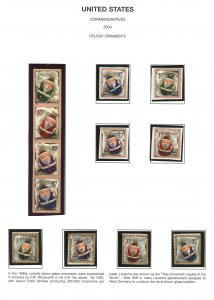 US #3883 - 3894 COMPLETE Set of 12, Santa Ornaments,  TOUGH TO FIND!!  VF min...
