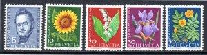 SWEDEN B308-B312 MH SCV $4.55 BIN $2.30 FLOWERS