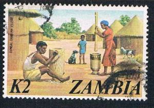 Zambia 148 Used Village Scene 1975 (BP26511)