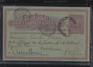 URUGUAY (P0105B)  1900 3C PSC TO FRANCE