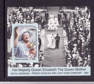 Sierra Leone- Sc.1256-unused NH sheet-Queen Mother-Royalty-1990-