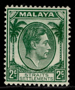 MALAYSIA - Straits Settlements GVI SG293, 2c green, M MINT. Cat £60.
