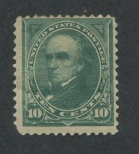 1895 US Stamp #273 10c Mint Hinged Fine Original Gum Catalogue Value $95