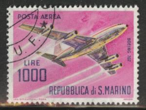 San Marino Scott C128 Used 1964 1000L Airmail