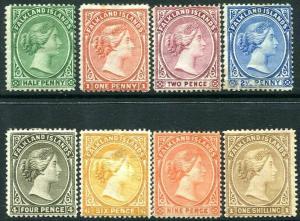 FALKLAND ISLANDS-1891-1902 Set to 1/- Sg 17b-38 AVERAGE MOUNTED MINT V30337