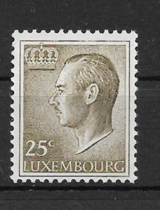 Luxembourg 1966 Grand Duke Jean 25c MNH**