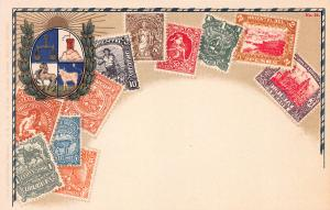 Uruguay, Stamp Postcard,#24, Published by Ottmar Zieher, Circa 1905-10, Unused