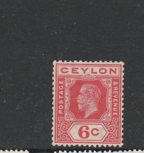 Ceylon 1921/32, SCA, 6c carmine-Red Wmk INV MM SG 342w