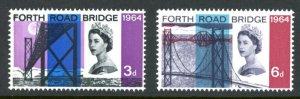 Great Britain 418p-419p MNH mint phosphor tagged Forth Road Bridge      (Inv ...