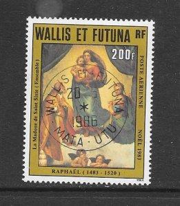 WALLIS & FUTUNA #C128  ART-RAPHAEL-SISTINE MADONNA  CANCELLED