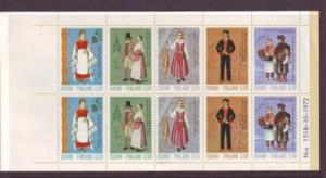 Finland Sc522b 1972 costumes stamp booklet mint NH