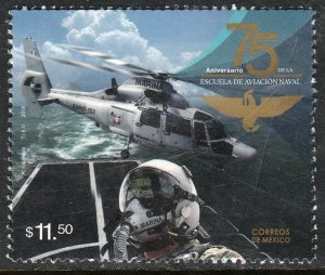 MEXICO 3123, NAVAL AVIATION SCHOOL, 75th ANNIV. MINT, NH. VF.
