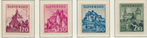 Slovakia Stamps Scott #58 To 61, Mint Hinged - Free U.S. Shipping, Free World...