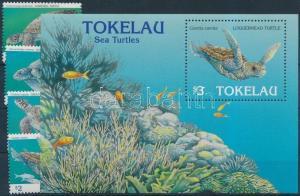 Tokelau Islands stamp Turtles set + block 1995 MNH Mi 223-226 +  Mi 6 WS179272