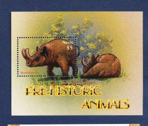 NEVIS - Scott 1451 -  FVF MNH S/S - Prehistoric Animals - 2005
