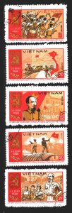 Vietnam. 1980. 1085-89. 50 years of the Communist Party of Vietnam. USED.