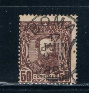 Belgian Congo  9 Used King Leopold II (B0029)