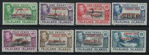 Falkland Islands Dependencies Scott 2L1-2L8 Mint Hinged - Graham Land