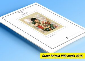 COLOR PRINTED GREAT BRITAIN 2015 PHQ CARDS STAMP ALBUM PAGES (133 illust. pages)