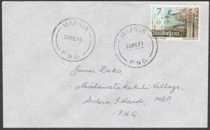 PAPUA NEW GUINEA 1979 cover ex MAPRIK.. ....................................L827