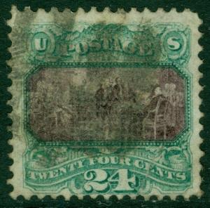 EDW1949SELL : USA 1869 Scott #120 Used. Sealed tear. Nice perforations. Cat $600