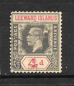 LEEWARD ISLANDS 1921-32   4d    KGV    FU   SG 70