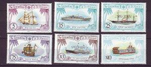 J24526 JLstamps 1982 st vincent specimen mnh #222,227,229,233,236,238 ships