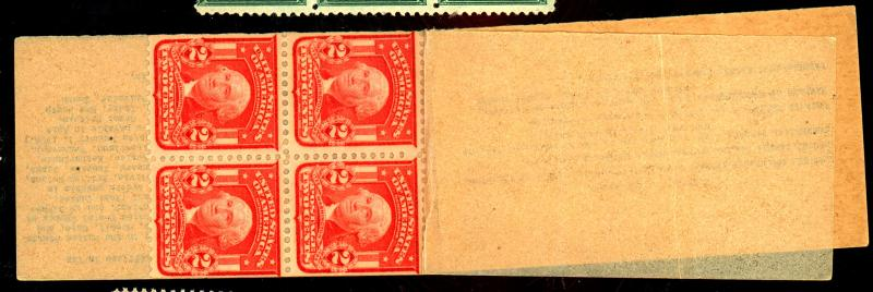 319G MINT Partial Pane of 4 in Booklet F-VF NH