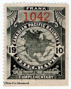 (I.B) Canada Telegraphs : Canadian Pacific (1910)