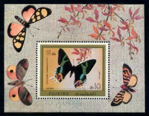 [98890] Fujeira 1971 Insects Butterflies Souvenir Sheet MNH