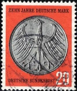 10th Anniv Of The German Currency Reform Germany Sc787 Used