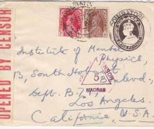 1939, India to Los Angeles, CA, See Remark (C2891)