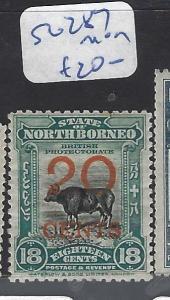 NORTH BORNEO (P2709B)  20C/18C COW  SG 287   MOG
