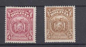 J28565 1927 bolivia hv,s of set mnh #176-7 coat of arms