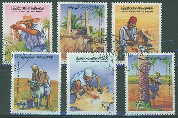 Libya SC# 1220a-f Agricultural Traditions, 6 issues, used