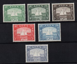 Aden 1937 KGVI DHOW mint LHM collection to 3 1/2A WS22185