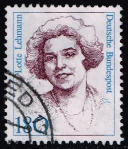 Germany #1490 Lotte Lehmann; Used (1.20)