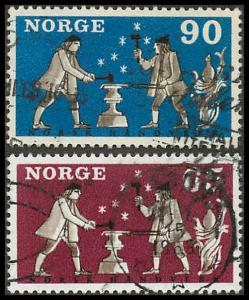 Norway 513-514 Used VF