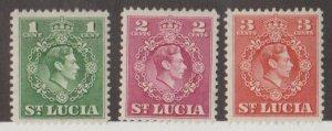 St. Lucia Scott #135-136-137 Stamps - Mint Set