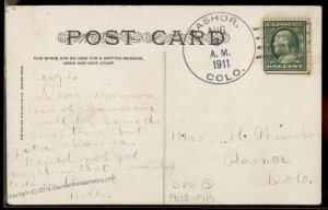 USA 1911 BASHOR Colorado DPO Cover Camp Harding Postcard 94212