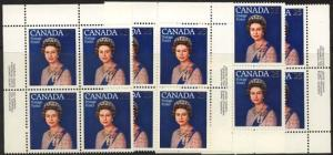 Canada - 1977 Silver Jubilee Imprint Blocks mint #704