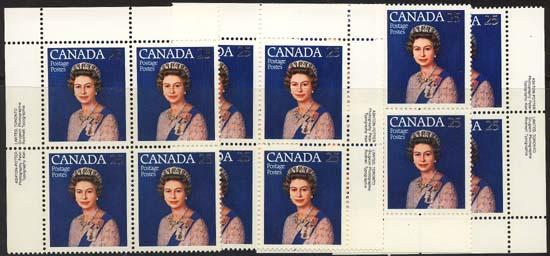 Canada - 1977 Silver Jubilee Imprint Blocks mint #704